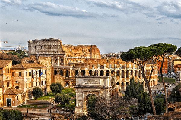 Roma ripresa con drone