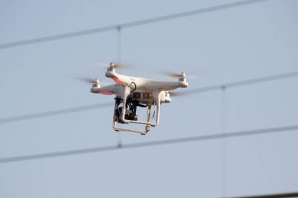 Termocamera sul drone per rilevare dispersione di calore Drone Pro Service